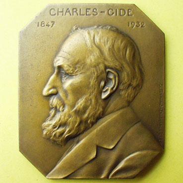 coins-medals-charles-gide-1847-1932-medaille-en-bronze-rectangulaire-gravee-par-c-fernand-dubois_98690a